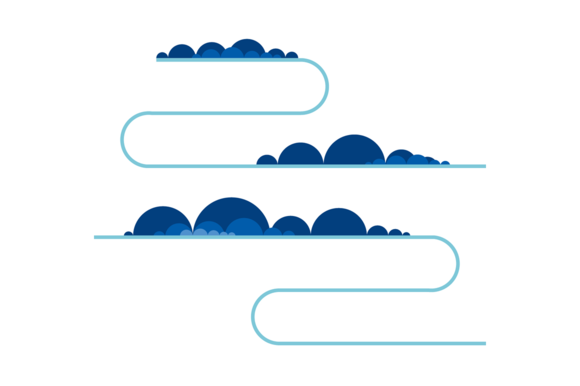Vector Clouds Content Dividers