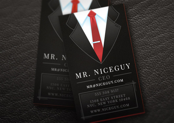Business Suit Card