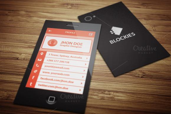 Smart Phone Business Card V.3