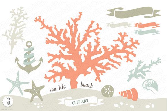 Beach Sea Corals Nautical 01