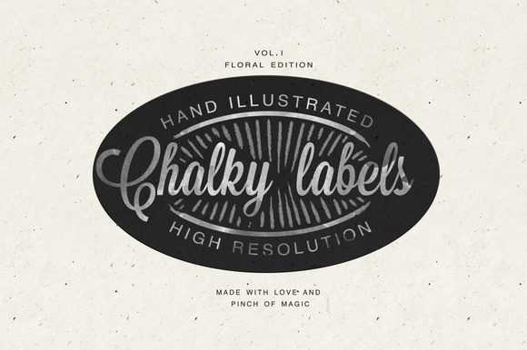 Hand Illustrated Chalk Labels