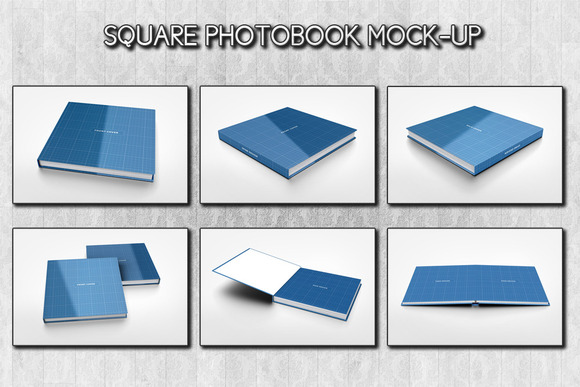 Square Photobook Mock-up