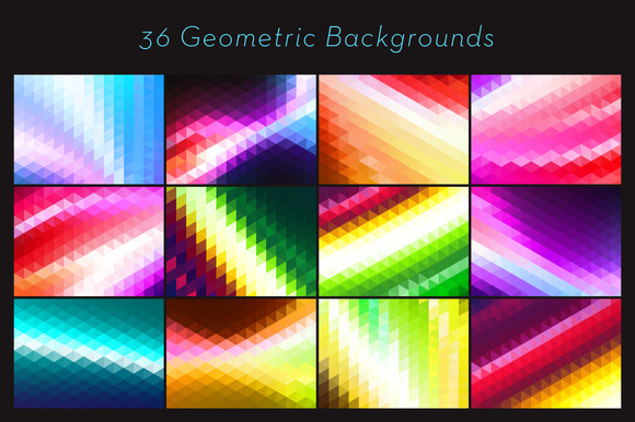 36 Vector Triangle Backgrounds