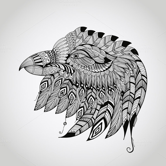 Vector Tattoo Eagle Head