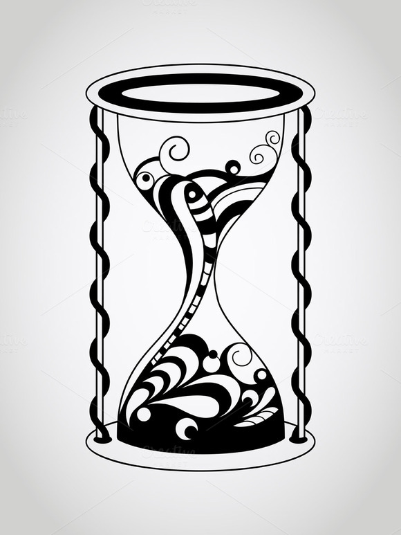 Vector Tattoo Hourglass