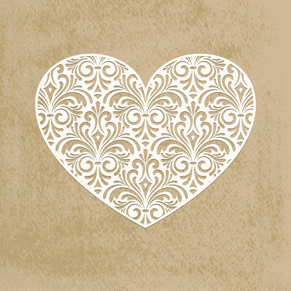 Vector Paper Cut Heart