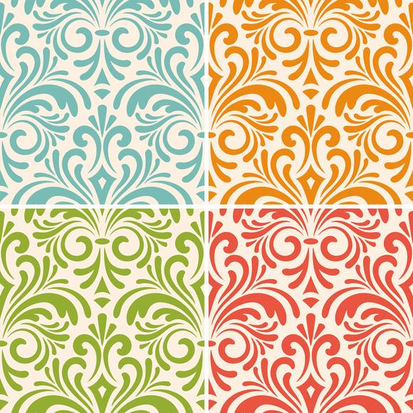Vector Seamless Floral Vintage Patte