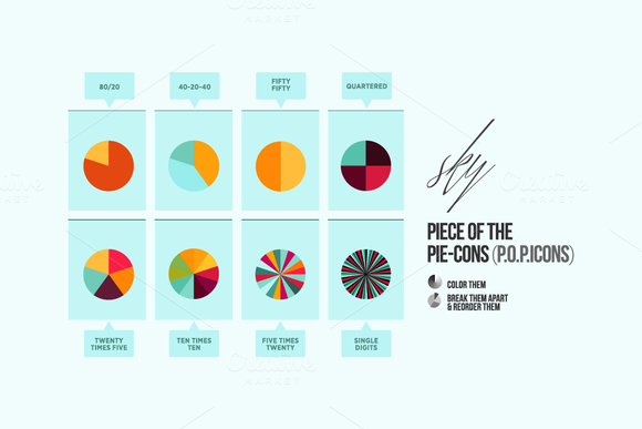 POP Ultimate Pie Chart Icon Set