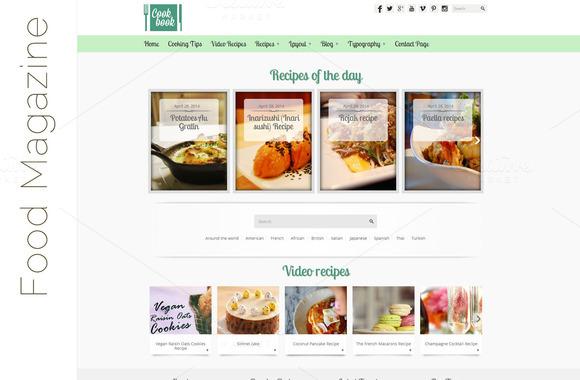 CookBook Food WordPress Theme