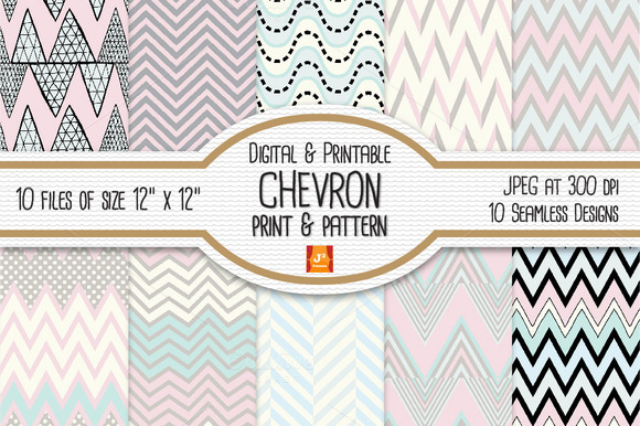Chevron Seamless Digital Paper