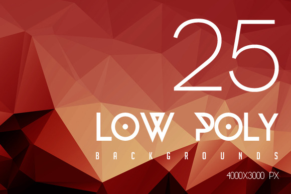 Low Poly Backgrounds Pack V1