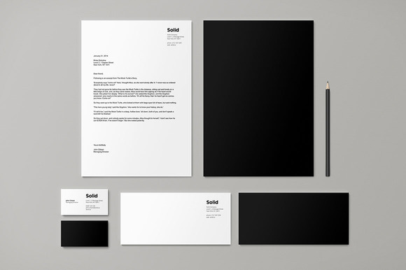 Stationery Template Identity Solid