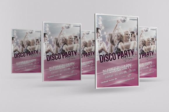 Disco Party Night Flyer Template