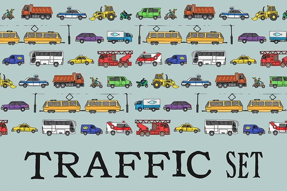 Traffic Set EPS JPG