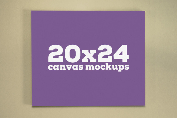 20x24 Canvas Mockups