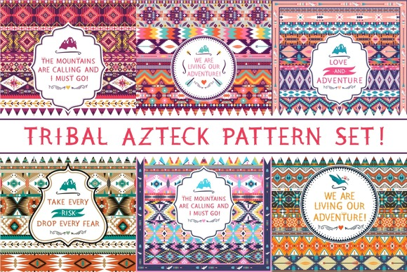 Tribal Azteck Patterns Set