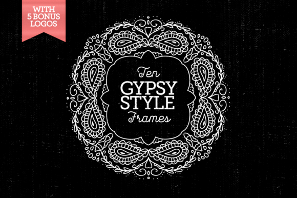 10 Gypsy-Style Frames 5Bonus Logos