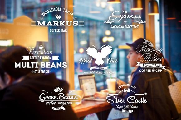 7 Retro Coffee Insignias