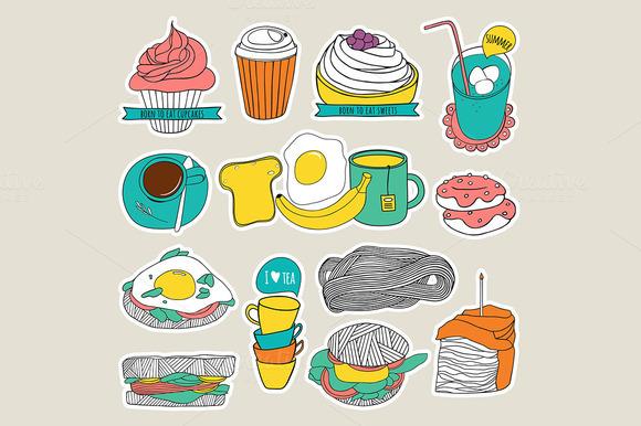 Food Sticker Set
