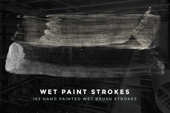 163 Wet Paint Strokes Brush Set