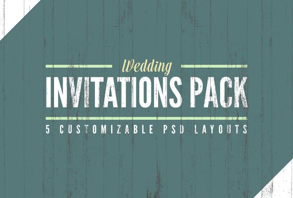 Wedding Invitation Templates Pack