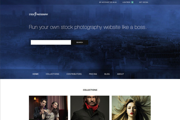 Stock Photography ECommerce Theme