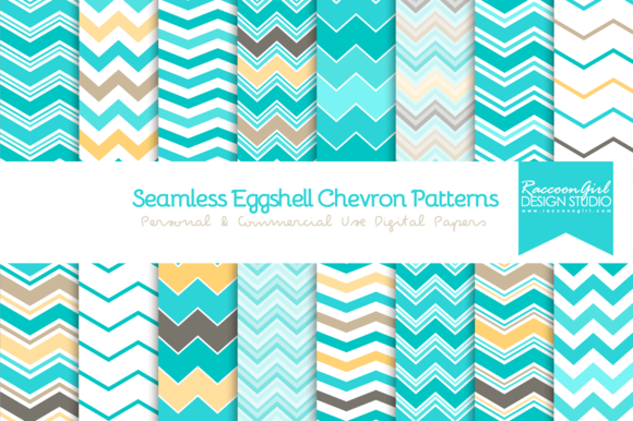 Seamless Eggshell Chevron Patterns