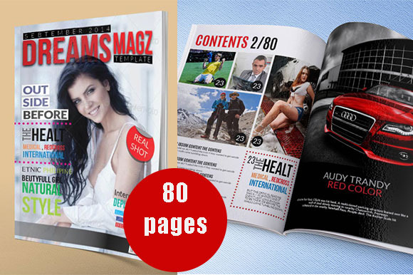 A4 Us Letter Magazine Template