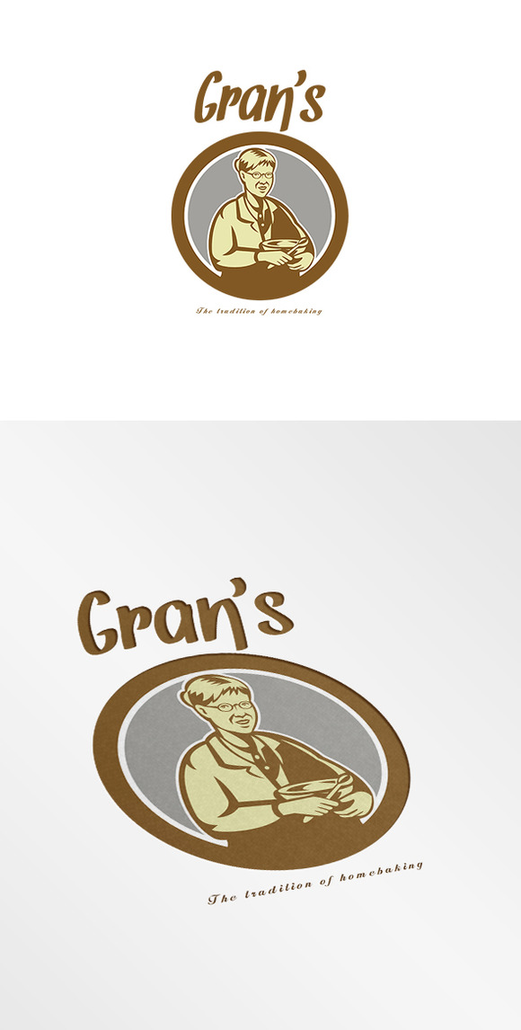 Gran S Traditional Homebaking Logo