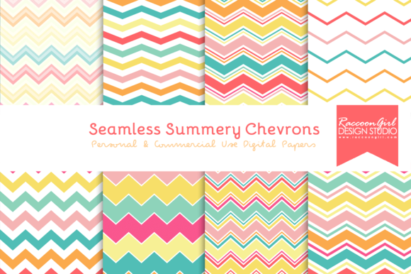 Seamless Summery Chevron Patterns