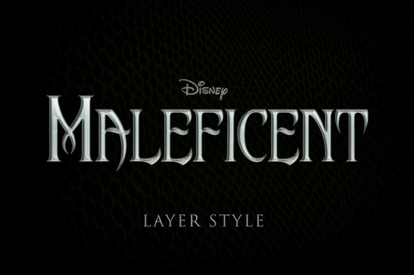 Maleficent Like Text Effect