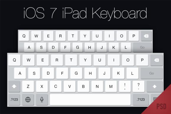 IOS 7 IPad Keyboard PSD