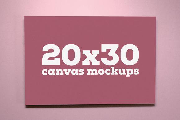 20x30 Canvas Mockups
