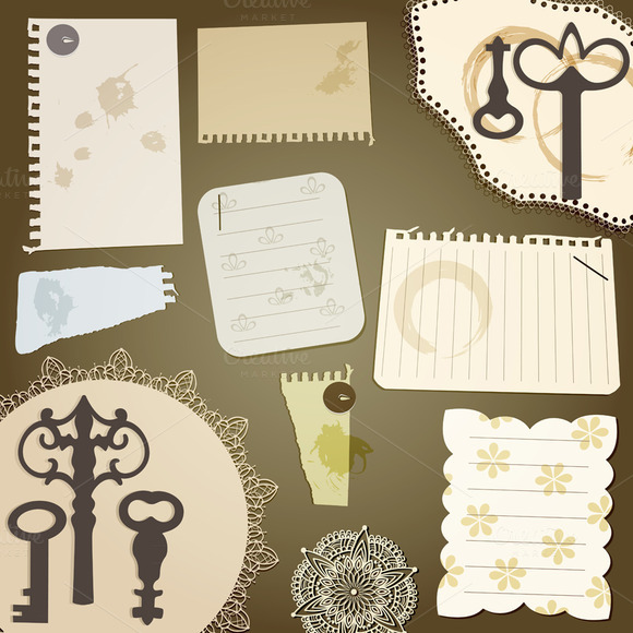 Vector Scrapbook Design Elements Vi
