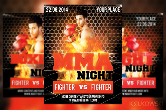 MMA Night Flyer
