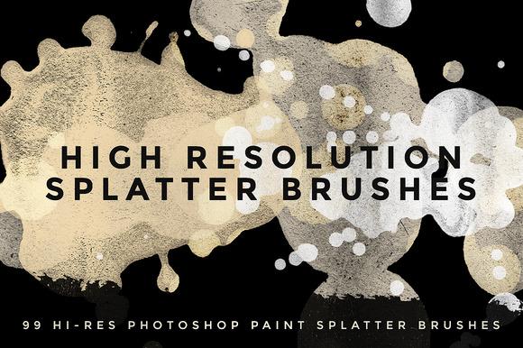 99 Hi Res Paint Splatter Brushes