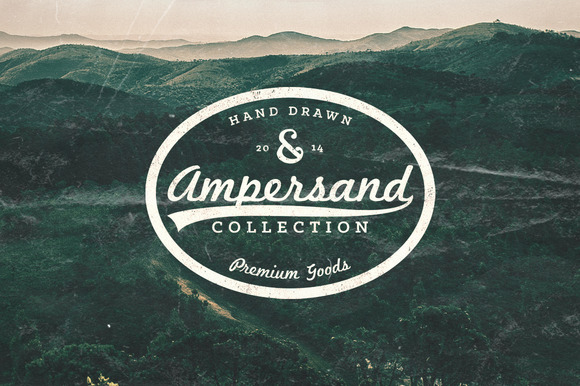 99 Hand Drawn Ampersand Collection