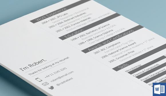 Slate Resume Template