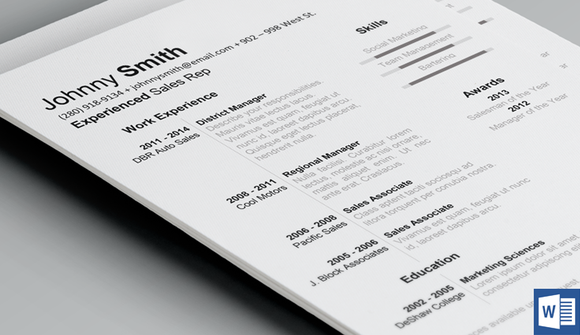 History Resume Template