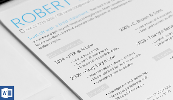 Highlight Resume Template