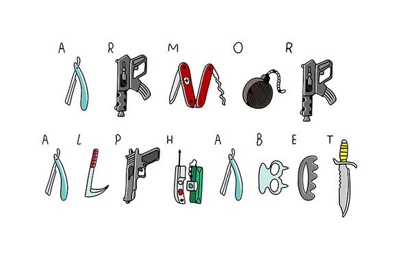 Doodle Armor Alphabet
