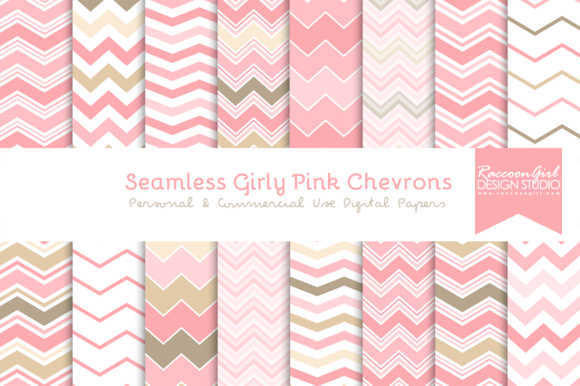 Seamless Girly Pink Chevrons