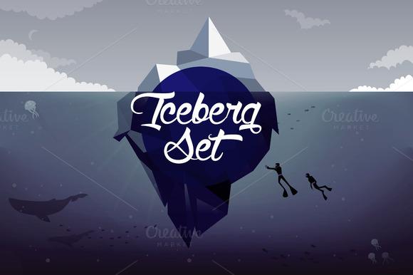 Icebergs Illustrations