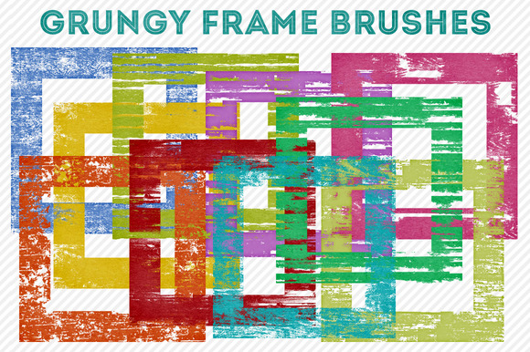 Grungy Square Frame Brushes