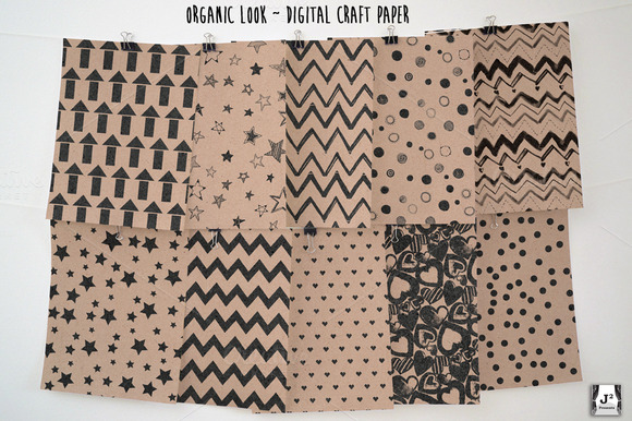 Organic Digital Craft Paper