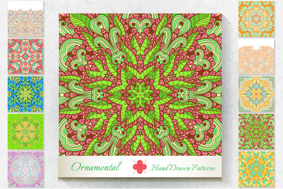 10 Ornamental Patterns Set#1