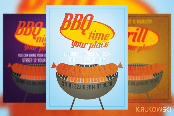 free pig roast flyer template designtube creative design content. Black Bedroom Furniture Sets. Home Design Ideas