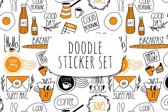 Doodle Sticker Set