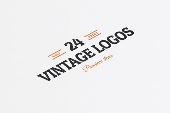 24 Vintage Logos Badges Vol 1