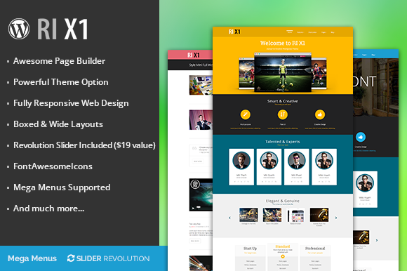 RI X1 Creative Wordpress Theme
